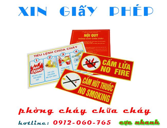 Xin giấy phép phòng cháy chữa cháy nhanh