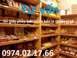 xin giấy phép bán buôn bán lẻ thuốc xì gà