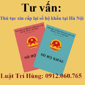 Thủ tục xin cấp lại sổ hộ khẩu tại Hà Nội